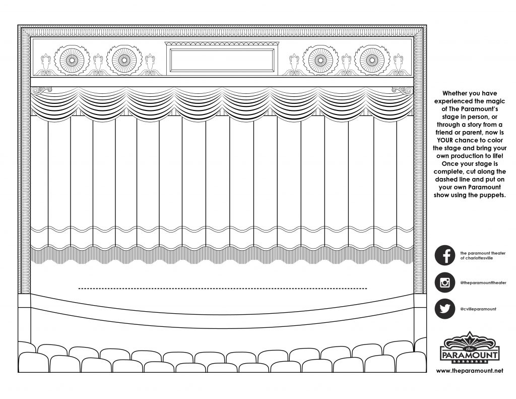 Paramount Stage Coloring Page